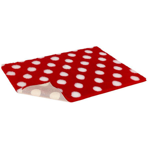 Vetbed Non-Slip Red With White Polka Dot
