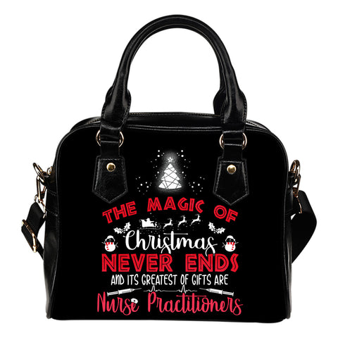 NURSE PRACTITIONERS: THE MAGIC OF CHRISTMAS HANDBAG - MikeAndNikes™- We Just Did It - Cream of The Crop®