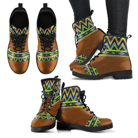 Handcrafted Bohemian Pattern 2 Boots - MikeAndNikes™- We Just Did It - Cream of The Crop®