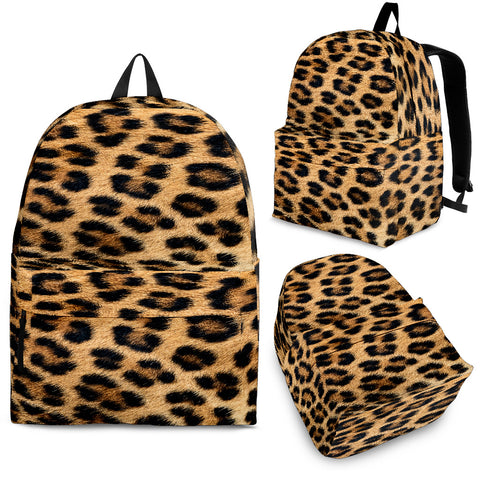 Leopard Fur Print Backpack - MikeAndNikes™- We Just Did It - Cream of The Crop®