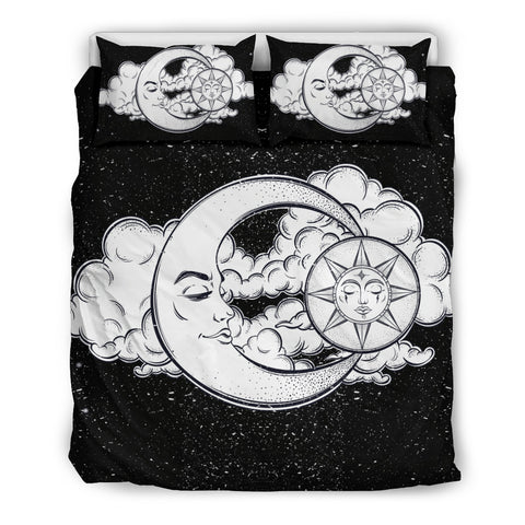 Sun and Moon Galaxy Bedding Set - MikeAndNikes™- We Just Did It - Cream of The Crop®