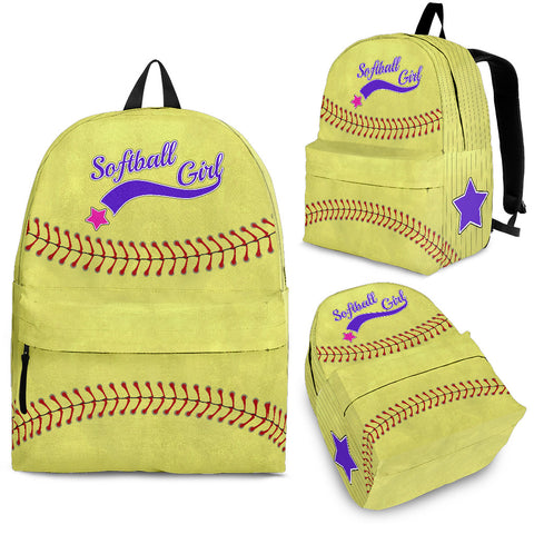 Backpack - Softball Girl - MikeAndNikes™- We Just Did It - Cream of The Crop®