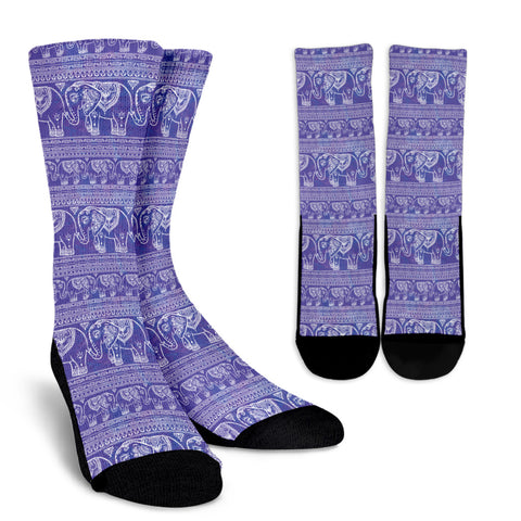 Purple Elephant Socks - MikeAndNikes™- We Just Did It - Cream of The Crop®