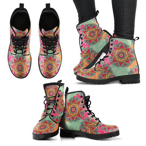 HandCrafted Womens Bohemian Flower Boots - MikeAndNikes™- We Just Did It - Cream of The Crop®