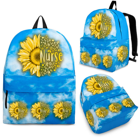 NURSE SUNFLOWER BACKPACK - MikeAndNikes™- We Just Did It - Cream of The Crop®