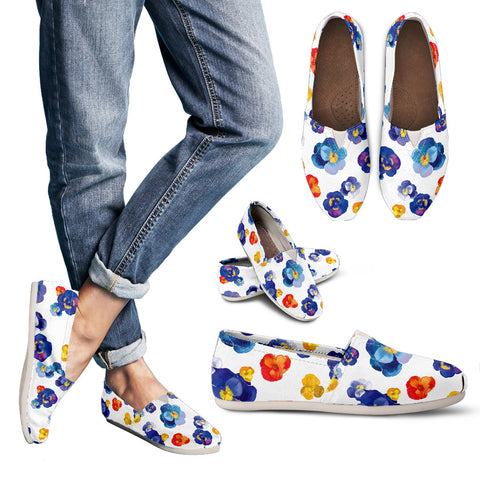 Pansy II Flower Women's Casual Shoes - MikeAndNikes™- We Just Did It - Cream of The Crop®