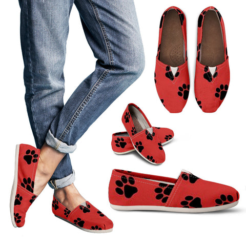 Pooch Paw Print Women's Casual Shoes - MikeAndNikes™- We Just Did It - Cream of The Crop®
