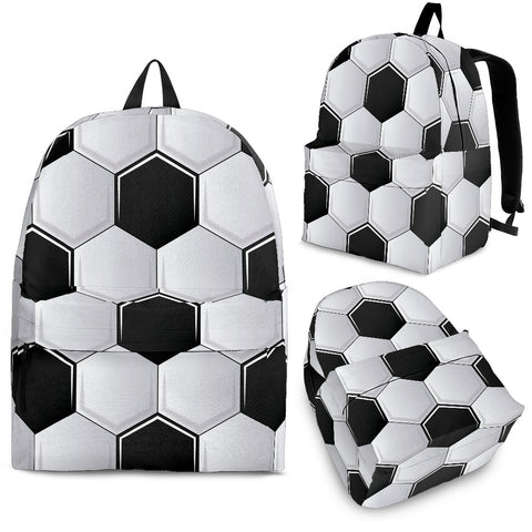 Soccer Ball Pattern Backpack - MikeAndNikes™- We Just Did It - Cream of The Crop®