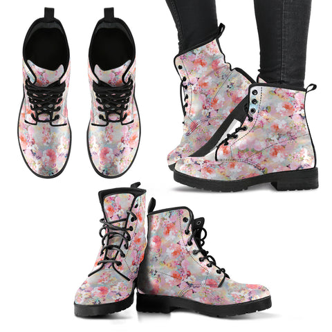 Premium Vintage Floral Boots. - MikeAndNikes™- We Just Did It - Cream of The Crop®