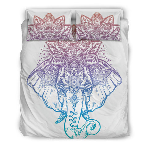 Mandala Elephant 1 Bedding Set. - MikeAndNikes™- We Just Did It - Cream of The Crop®