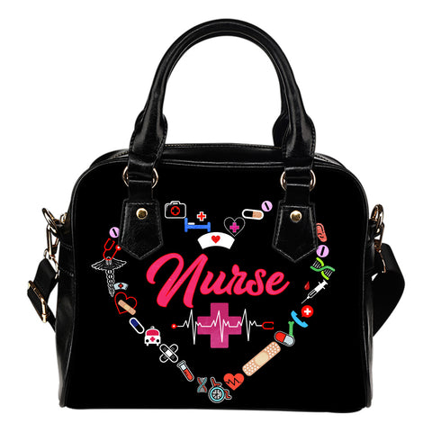 NURSE HANDBAG pink letters - MikeAndNikes™- We Just Did It - Cream of The Crop®