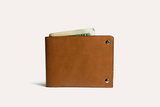 Unstitched Leather Billfold Wallet - MikeAndNikes™- We Just Did It - Cream of The Crop®