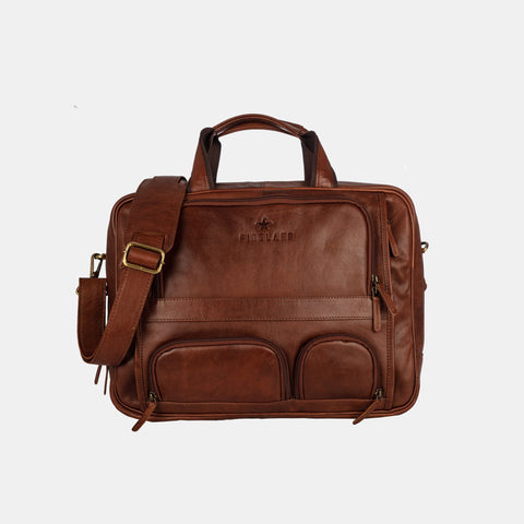 Finelaer Men Flight Bag 15.6 inch Brown Laptop - MikeAndNikes™- We Just Did It - Cream of The Crop®