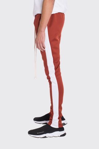 HOLIDAY TRACK PANTS- RUST - MikeAndNikes™- We Just Did It - Cream of The Crop®