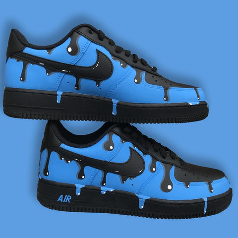 Nike Air Force One (Blue Drip) - MikeAndNikes™- We Just Did It - Cream of The Crop®
