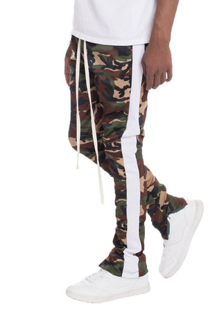 CAMO TRACK PANTS- WHITE - MikeAndNikes™- We Just Did It - Cream of The Crop®