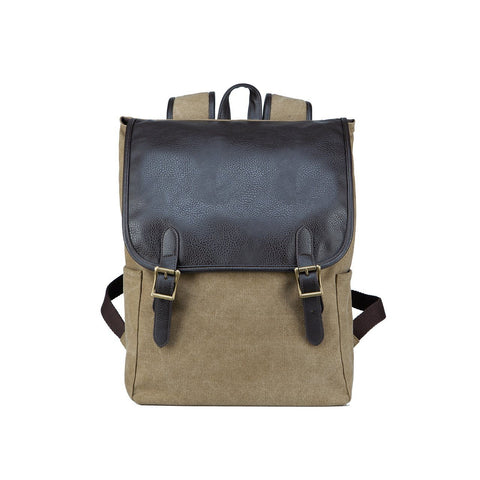 Shaun Canvas Cinched Backpack - MikeAndNikes™- We Just Did It - Cream of The Crop®