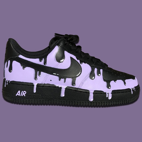 Nike Air Force Ones (Purple Drip) - MikeAndNikes™- We Just Did It - Cream of The Crop®