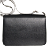 Pebbled Leather Crossbody Bag Black - MikeAndNikes™- We Just Did It - Cream of The Crop®