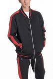 RALLY TRACK JACKET- BLACK/RED - MikeAndNikes™- We Just Did It - Cream of The Crop®