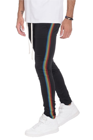 Rainbow Taped Track Pants - MikeAndNikes™- We Just Did It - Cream of The Crop®