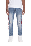 RACER DENIM- BLUE - MikeAndNikes™- We Just Did It - Cream of The Crop®