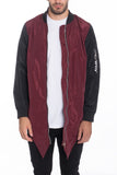 FISHTAIL BOMBER- BURGUNDY - MikeAndNikes™- We Just Did It - Cream of The Crop®