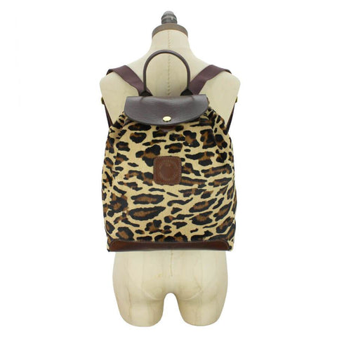 Gertie Backpack - Leopard Hair On Hide - MikeAndNikes™- We Just Did It - Cream of The Crop®