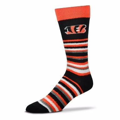 Cincinnati Bengals Fuzzy Crew Cut Socks - MikeAndNikes™- We Just Did It - Cream of The Crop®