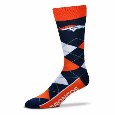 Denver Broncos Argyle Crew Cut Socks - MikeAndNikes™- We Just Did It - Cream of The Crop®