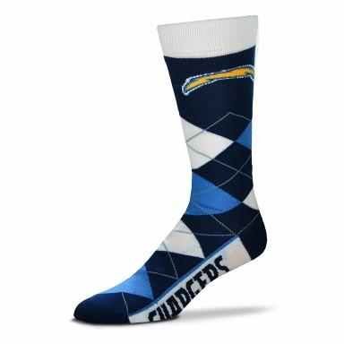 Los Angeles Chargers Argyle Crew Cut Socks - MikeAndNikes™- We Just Did It - Cream of The Crop®
