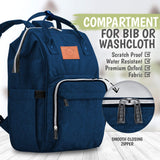 Original Diaper Backpack (Navy Blue) - MikeAndNikes™- We Just Did It - Cream of The Crop®