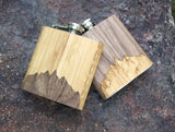 High Quality 6 oz. Wooden Hip Flask - Hand Crafted - MikeAndNikes™- We Just Did It - Cream of The Crop®