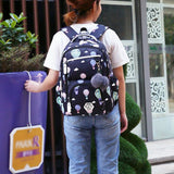 Girls Flower Printing Backpack Girl Kids Mochila - MikeAndNikes™- We Just Did It - Cream of The Crop®