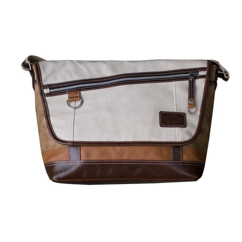 VANTAGE MESSENGER BAG - MikeAndNikes™- We Just Did It - Cream of The Crop®