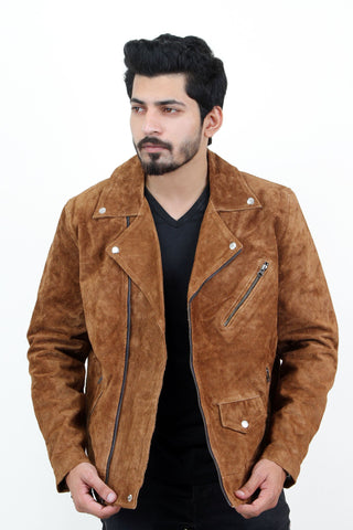 Jackherald Men Max Suede Leather Jacket - MikeAndNikes™- We Just Did It - Cream of The Crop®