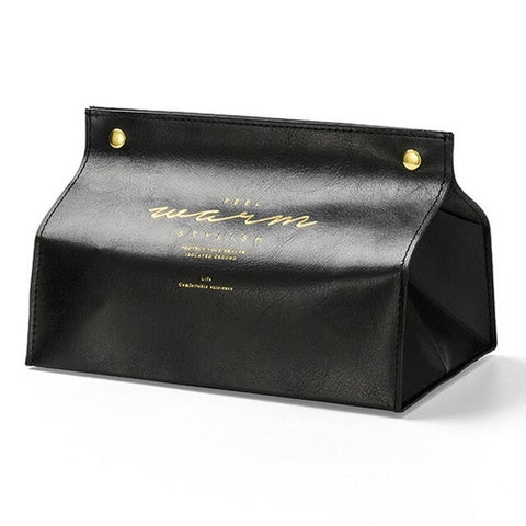 Leather Tissue Box Case - MikeAndNikes™- We Just Did It - Cream of The Crop®