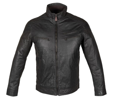 Men Corto Biker Straight Zip Up Leather Jacket  - - MikeAndNikes™- We Just Did It - Cream of The Crop®