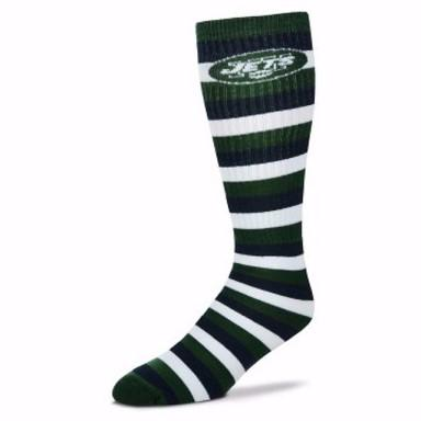 New York Jets Striped Knee High Socks - MikeAndNikes™- We Just Did It - Cream of The Crop®