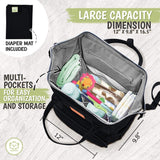 Original Diaper Backpack (Trendy Black) - MikeAndNikes™- We Just Did It - Cream of The Crop®