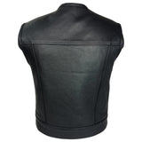MotoArt Cowhide Leather Vest w/ Concealed Carry - MikeAndNikes™- We Just Did It - Cream of The Crop®