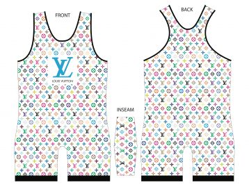 LV Louis v Color Print Singlet – White - MikeAndNikes™- We Just Did It - Cream of The Crop®