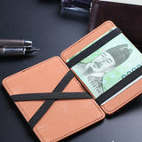 Mini Leather unisex women men Wallet Wallet ID - MikeAndNikes™- We Just Did It - Cream of The Crop®