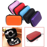 Mini Zipper Hard Headphone Case Earbuds Pouch Box - MikeAndNikes™- We Just Did It - Cream of The Crop®