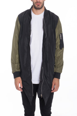 FISHTAIL BOMBER- OLIVE - MikeAndNikes™- We Just Did It - Cream of The Crop®