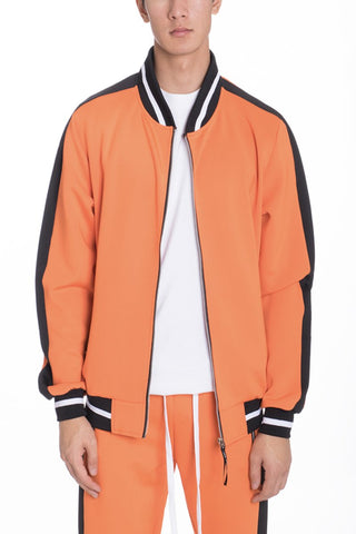 RALLY TRACK JACKET- ORANGE - MikeAndNikes™- We Just Did It - Cream of The Crop®