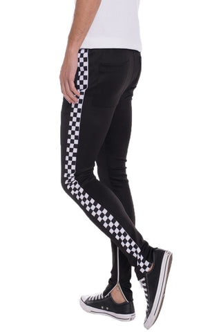 RACER TRACK PANTS - MikeAndNikes™- We Just Did It - Cream of The Crop®