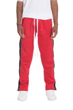 SNAP BUTTON TRACK PANTS- RED - MikeAndNikes™- We Just Did It - Cream of The Crop®