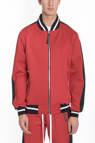 RALLY TRACK JACKET- RED - MikeAndNikes™- We Just Did It - Cream of The Crop®