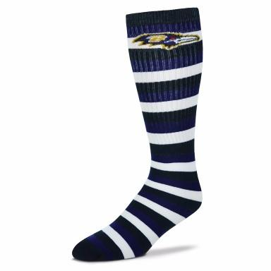 Baltimore Ravens Striped Knee High Socks - MikeAndNikes™- We Just Did It - Cream of The Crop®